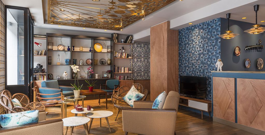 Hotel Comète Paris está inspirado en el espacio, los planetas y las estrellas