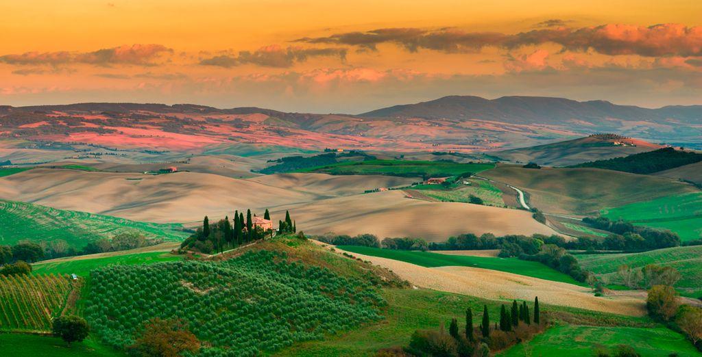 Admira los bonitos paisajes que la Toscana te ofrece