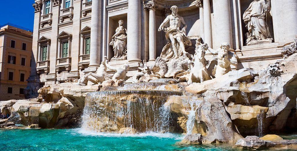 La hermosa Fontana de Trevi