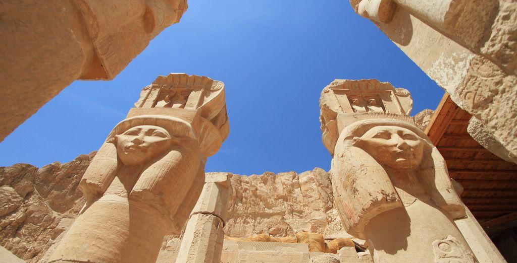 Detalle del Templo de la Reina Hatsheput, un templo mortuorio