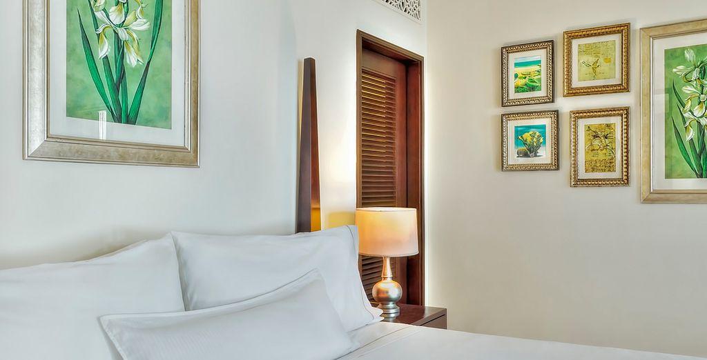 Te presentamos tu habitación Ocean Gran Deluxe, equipada para que su estancia sea inolvidable