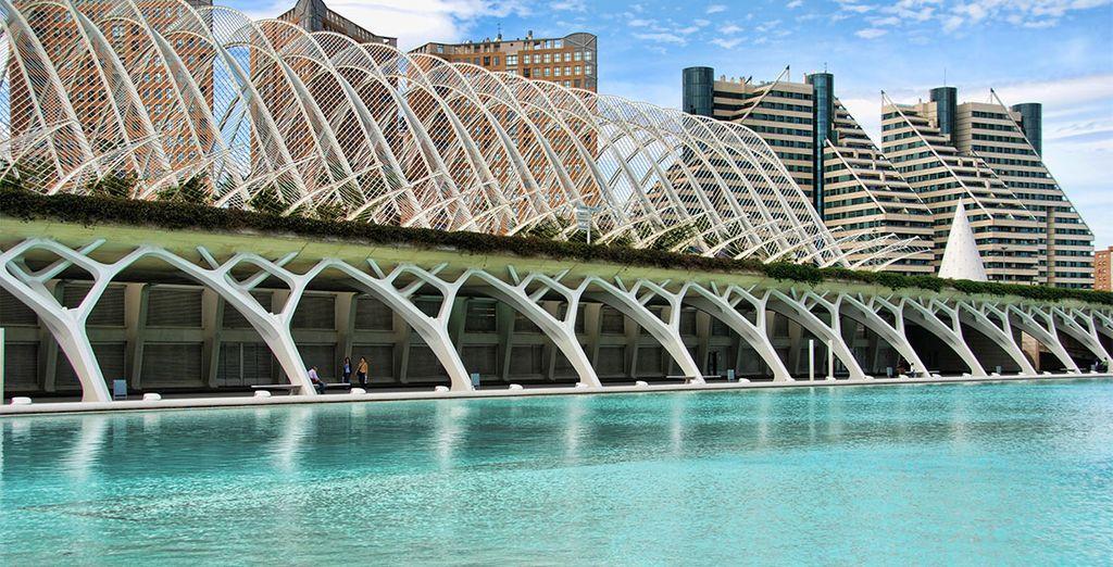 A tan sólo un paso de la Ciudad de las Artes y las Ciencias se encuentra el Ilunion Aqua 4*