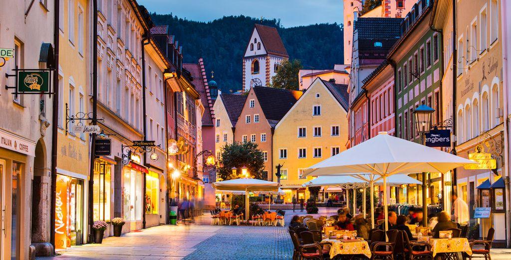 Seguidamente conocerás Füssen, una preciosa ciudad de casas burguesas del gótico tardío y barroco