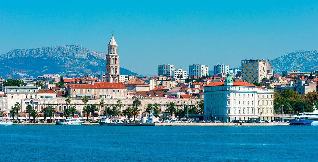 Split, capital de Dalmacia y ciudad costera con buen ambiente y muchas opciones de ocio