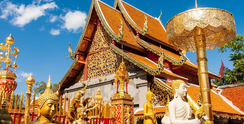 No te pierdas el templo Wat Phra That Doi Suthhep