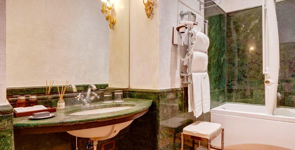 Con un baño privado