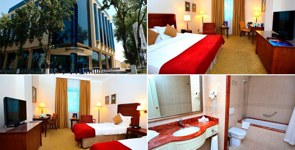 Podrás descansar unas horas en Radisson Blu Hotel 4*