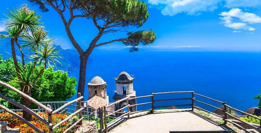 Para en lugares tan hermosos como Ravello
