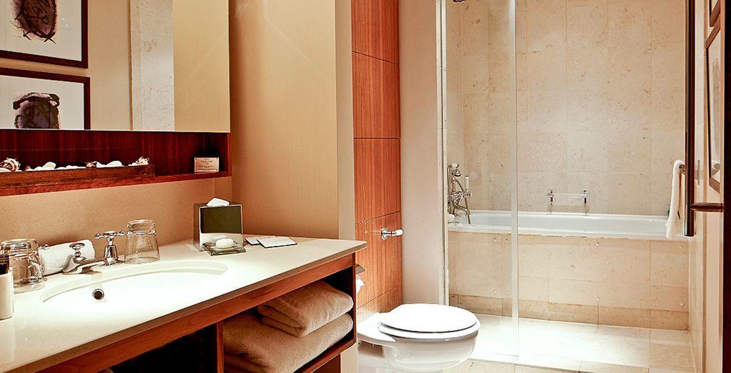 Con baño de diseño