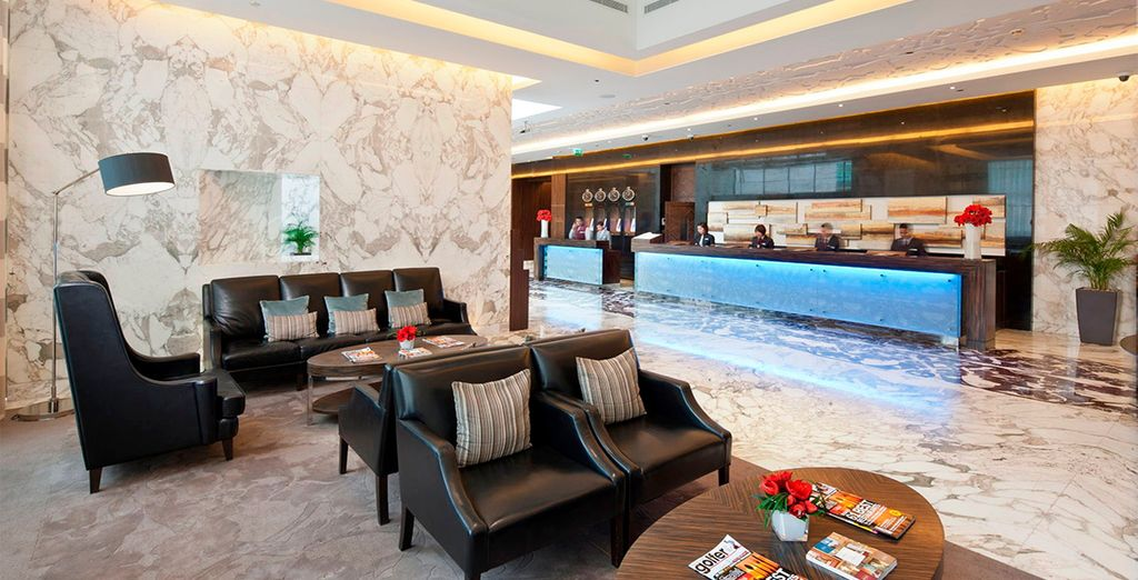 Elegantes interiores en un hotel 5*