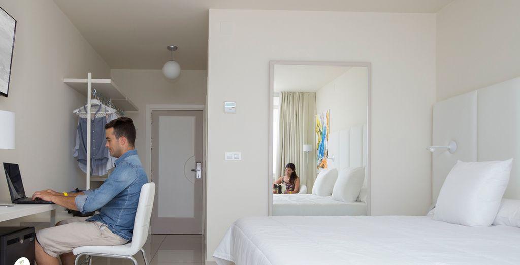 Elige entre una habitación con vistas a la urbanización