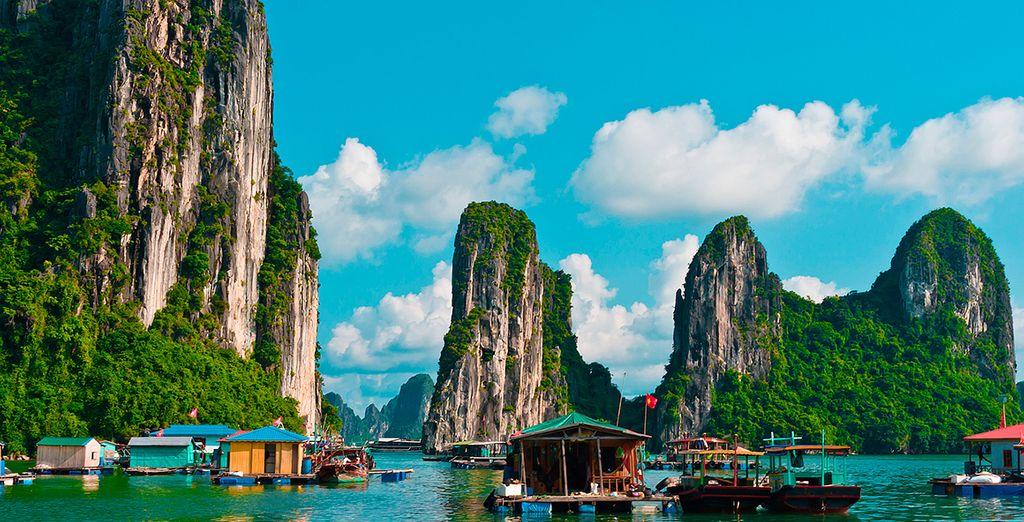 2000 islas forman la Bahía de Halong