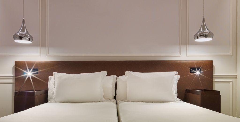 Recientemente reformada, esta habitación es elegante y moderna, totalmente equipada para tu comodidad
