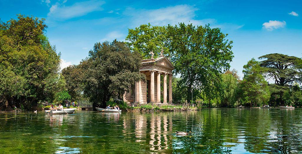A menos de 10 minutos encontrarás Villa Borghese... ¡Descúbrela!