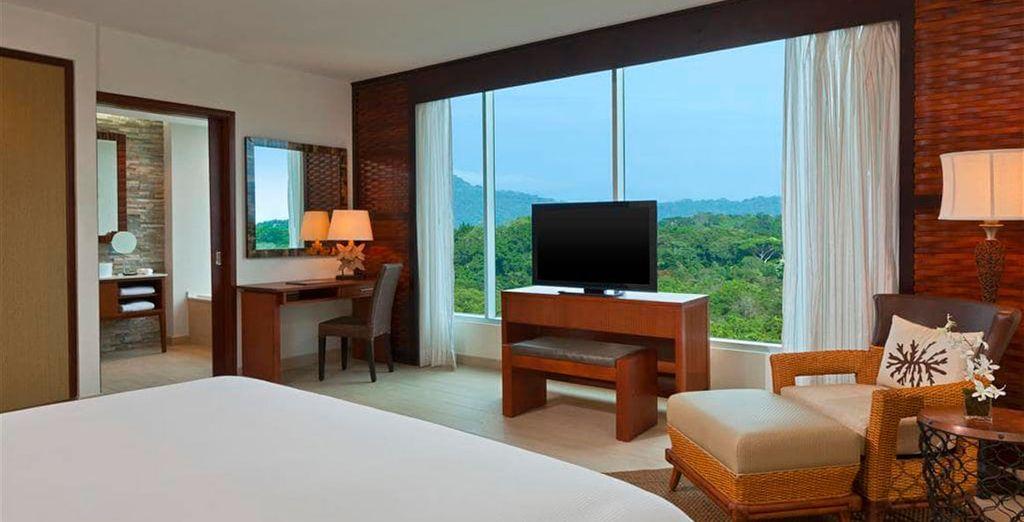 Puedes alojarte en una habitación Deluxe Green View