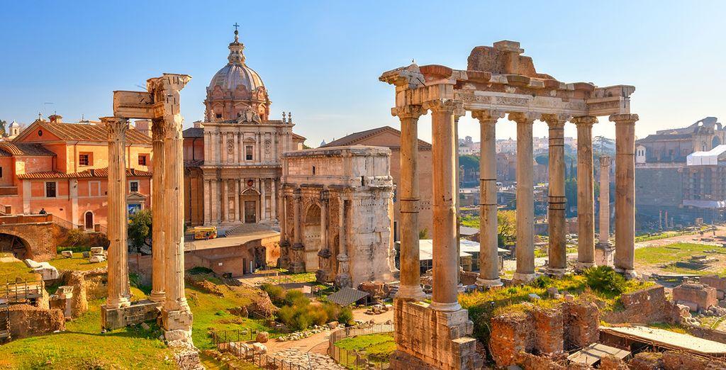 No te cansarás de asombrarte con el Foro romano