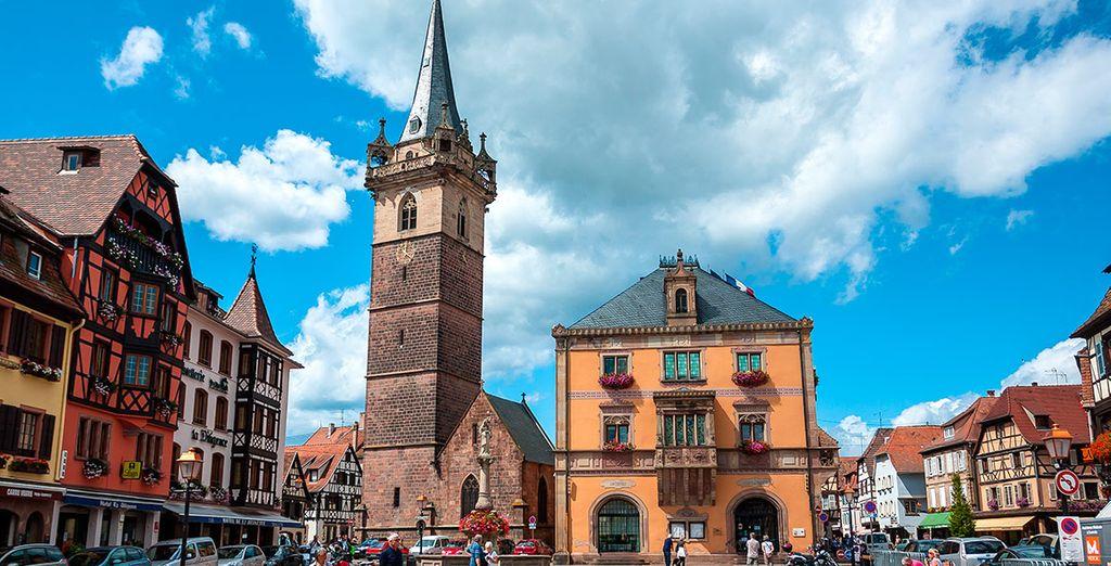 Contempla la belleza de la ciudad de Obernai