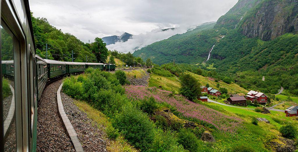 Contempla las vistas desde el tren de Fläm