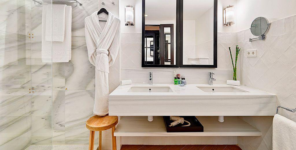 Dispondrás de un baño con un equipamiento espectacular