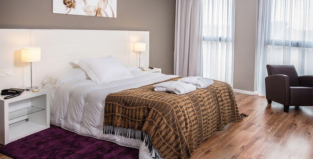 Amplias habitaciones para tu confort