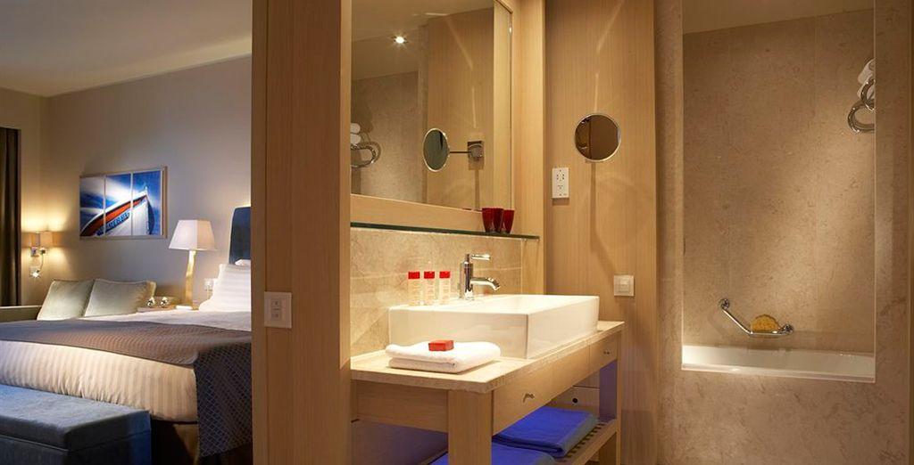 Las habitaciones cuentan con baño completamente equipado
