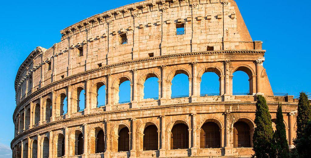 Pasea hasta el Coliseo, ¡a tan sólo 15 minutos a pie!