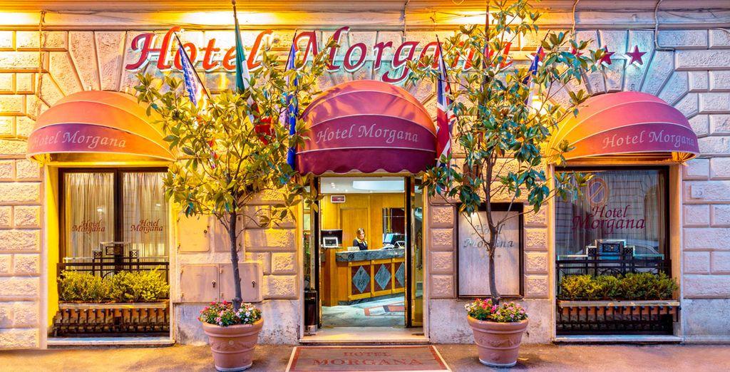 El Morgana 4*, elegante hotel situado en el corazón de Roma