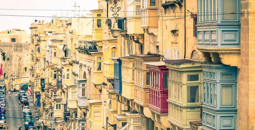 Pasea por las calles de La Valleta