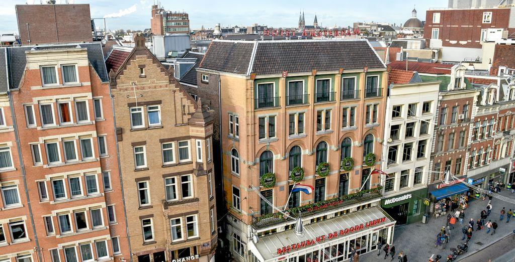 Tu hotel es el punto de partida ideal para descubrir Ámsterdam