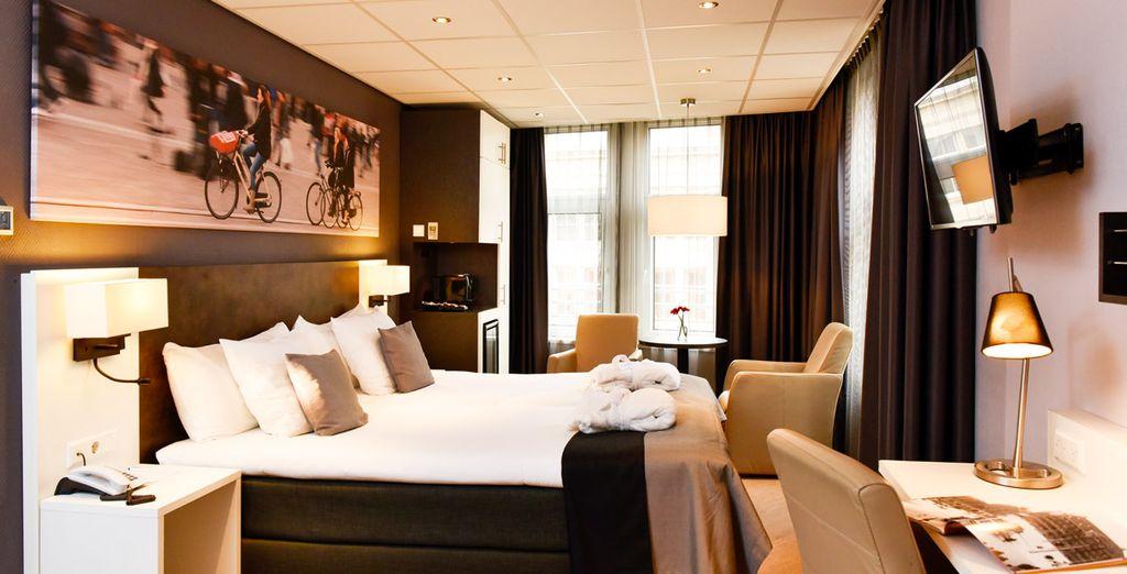 Bienvenido a tu habitación en Amsterdam de Roode Leeuw 4*
