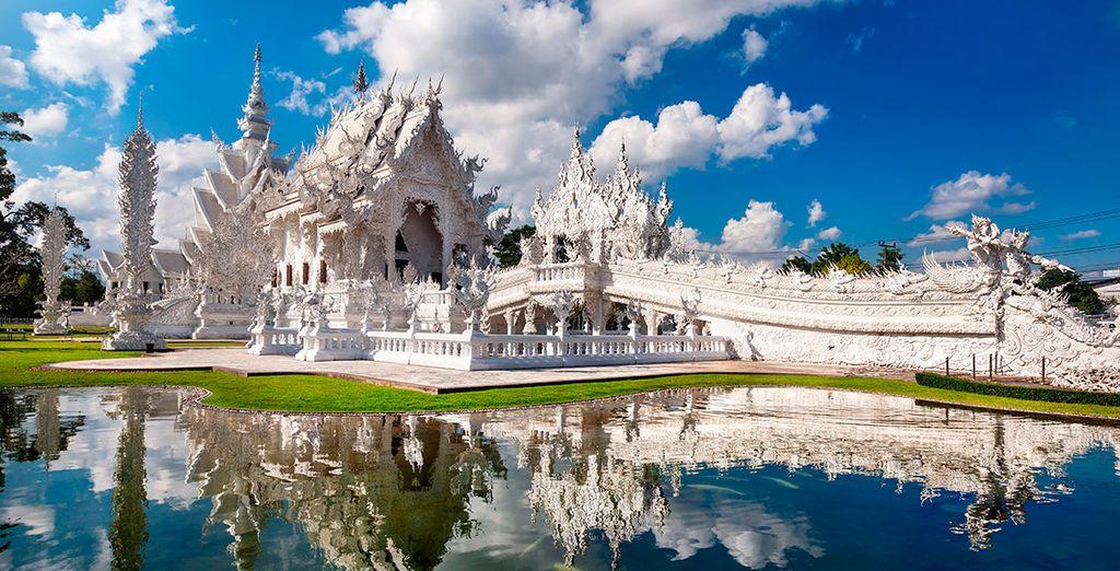 Te fascinará el Templo Blanco de Chiang Rai