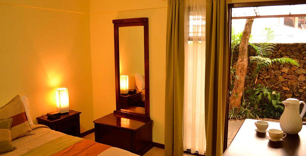 Las habitaciones de Poco a Poco 4* en Monteverde son muy acogedoras