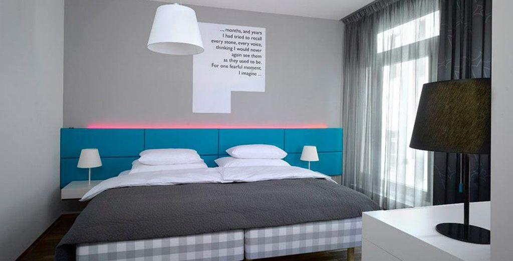 Para garantizar un buen descanso, el hotel proporciona las camas de los mejores fabricantes