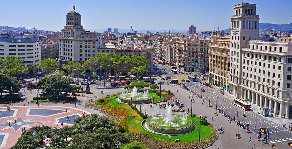 Plaza Cataluña, a tan sólo unos pasos de tu hotel