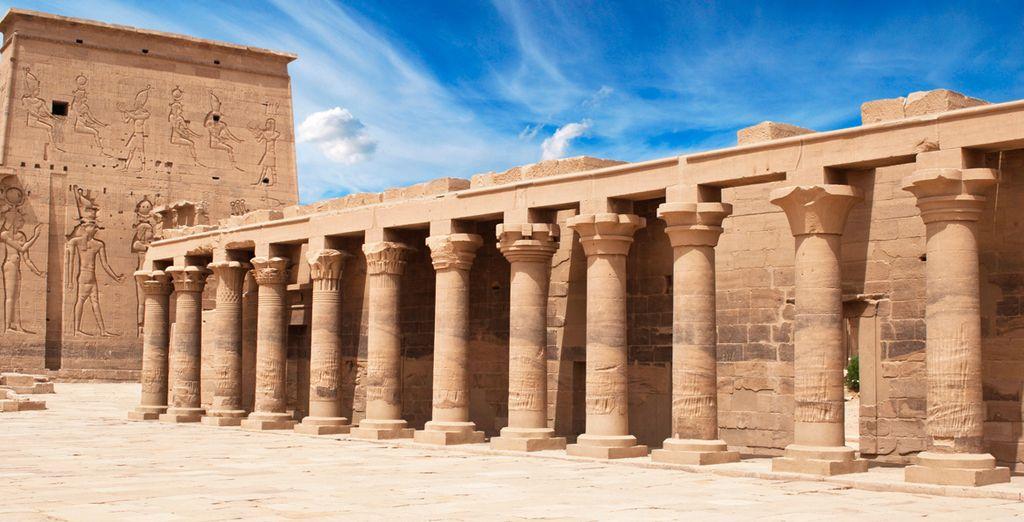 El Templo de Philae, dedicado a la Diosa Isis