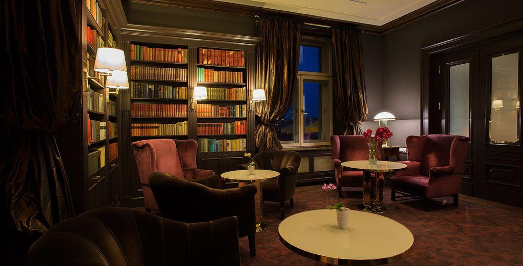 La biblioteca del hotel, un espacio entrañable