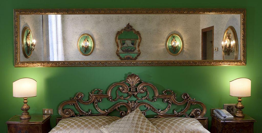 Los detalles clásicos la llenan de elegancia