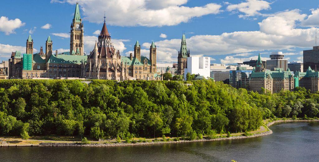 Ottawa, capital de Canadá en la histórica provincia de Ontario