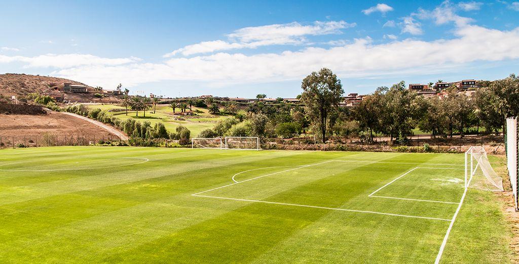 O si lo prefieres, juega un partido de fútbol en este espectacular campo