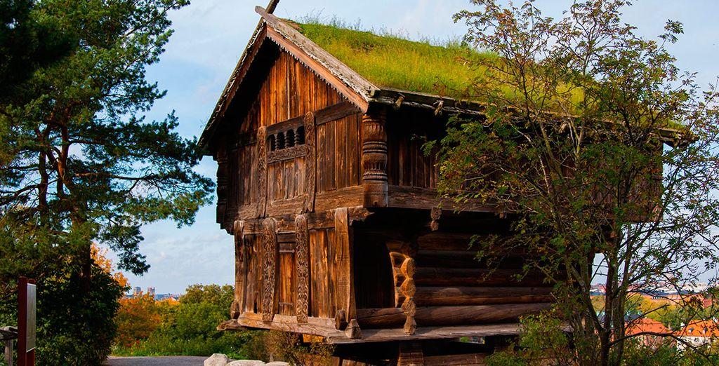 Una casa antigua en Skansen Park
