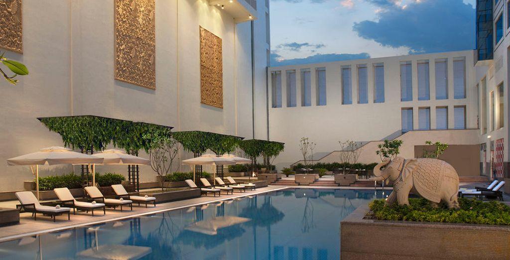 En Jaipur, te podrás alojar en el Jaipur Marriott Hotel 5*