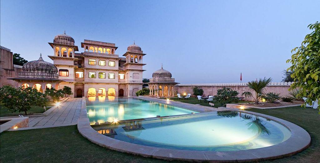 El Hotel Castle Mandawa 4* es una de tus opciones en esa preciosa localidad