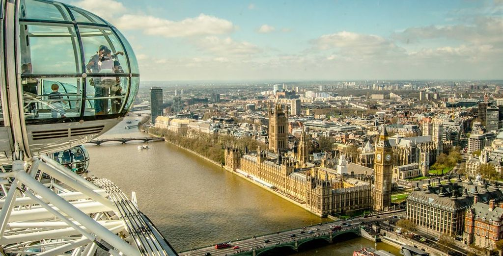 ...y disfruta de las vistas de toda la ciudad desde el London Eye