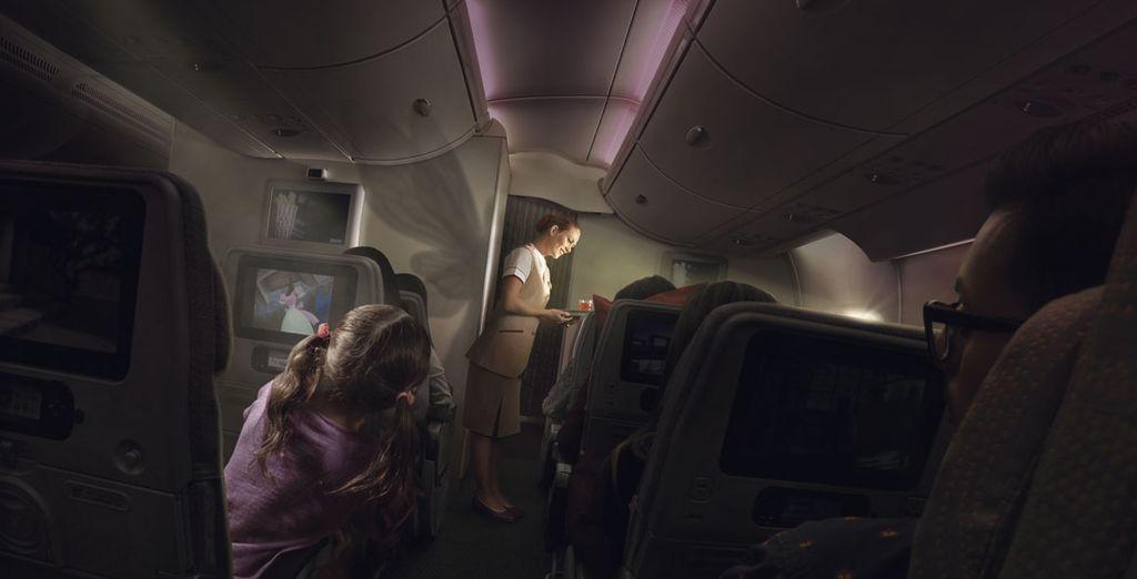 Emirates posee una de las franquicias más generosas permitiendo 30kg de equipaje facturado