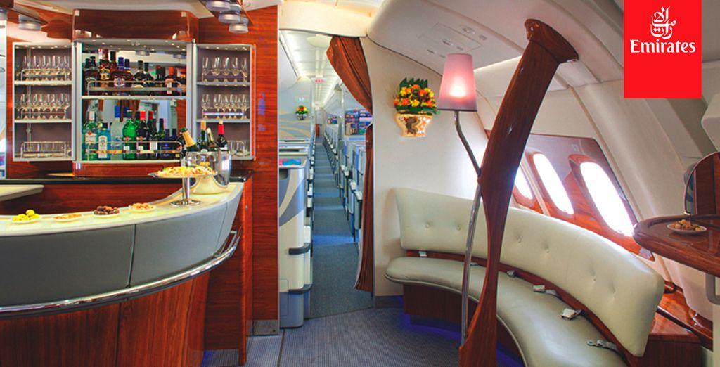 Exclusivo salón a bordo