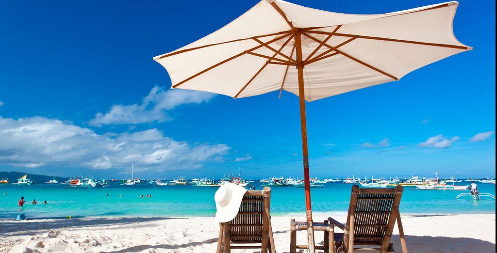 Disfrute del sol y de las playas