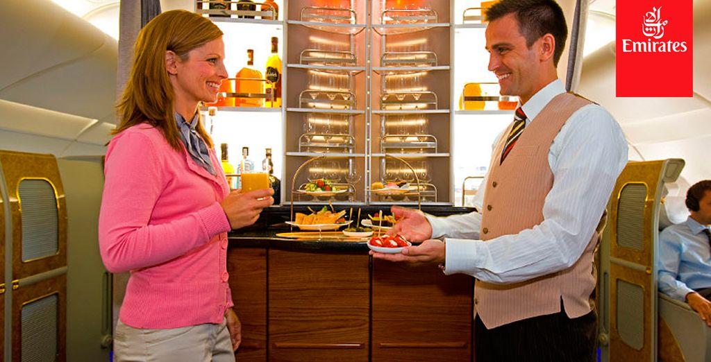 Emirates ofrece sabrosos menús regionales