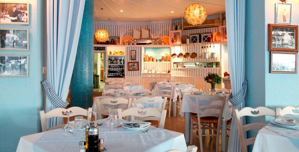 El encantador restaurante del hotel