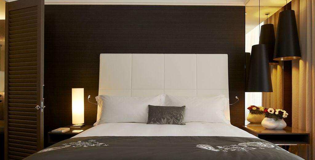 Escoge descansar en la habitación Executive con vistas al barrio de Panier o al jardín