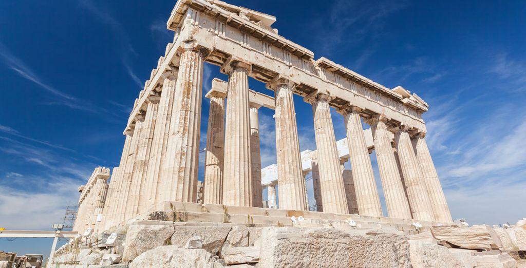 Descubra el famoso Partenón de la Acrópolis de Atenas